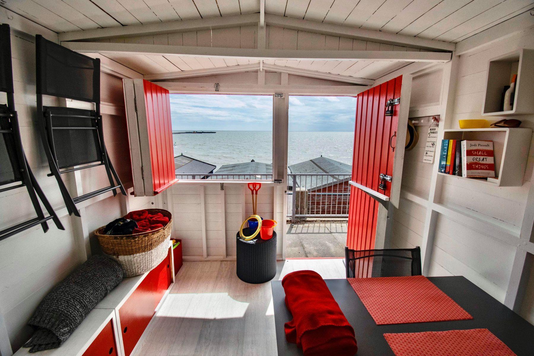 The Red Beach Hut Interior View