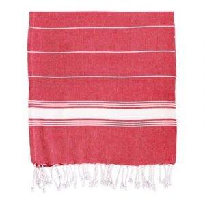 red turkish cotton beach towel