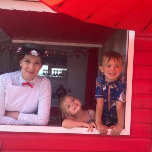 mary poppins at the red beach hut